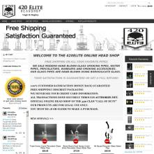 Live Magento store with Grayscale Full-width Free Magento Template - 420elite.com