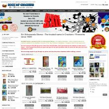 Live Magento store with Grayscale Full-width Free Magento Template - BookMyCrackers.com