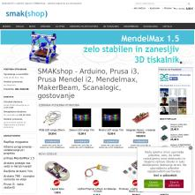 Live Magento store with Grayscale Full-width Free Magento Template - Smakshop.si