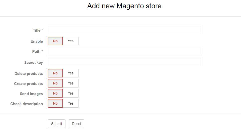 Connect new Magento store to Amazon Scraper