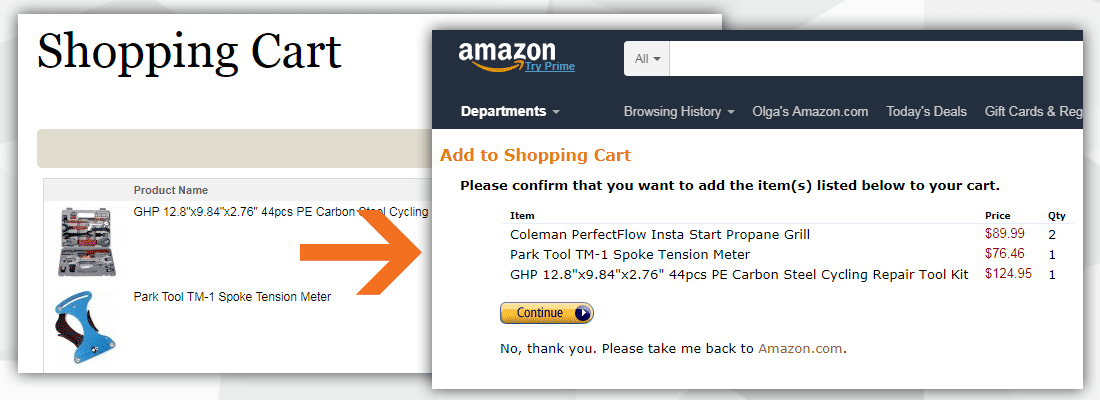 Proper transfer Magento to Amazon Cart