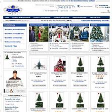 Magento Store B2c.weihnachtsbaum-discount.de - künstliche Weihnachtsbäume und Tannengirlanden sowie Weihnachtsdekoration