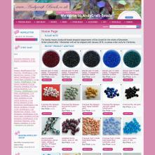Magento Store based on BlueScale Magento Template - Andycraft-beads.co.uk