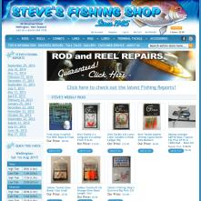 Magento Store based on BlueScale Magento Template - Stevesfishingshop.co.nz
