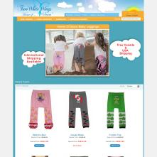 Magento Store based on BlueScale Magento Template - Baby Leggings and Children's Clothing