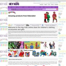 Magento Store based on BlueScale2013 Magento Template - Heykids.co.uk