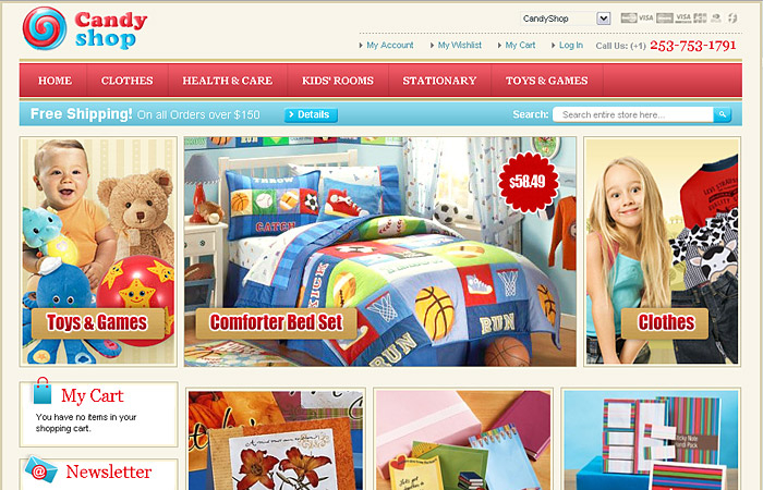 CandyShop Magento Template