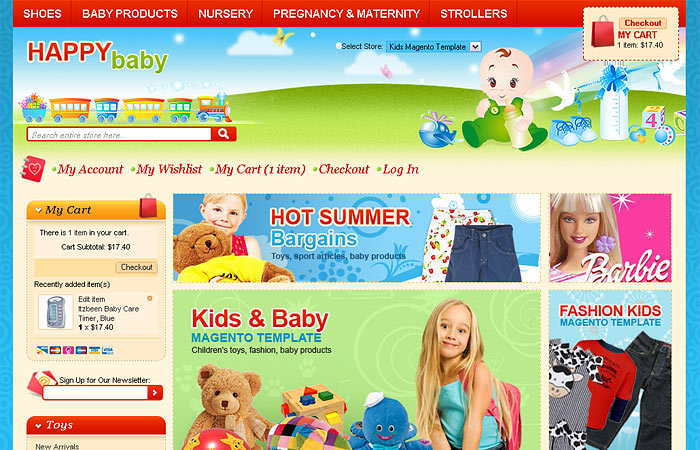 Kids Magento Template