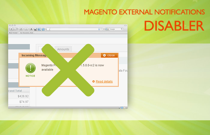External Notifications Disabler Magento Extension