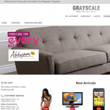 Grayscale Full-width Free Magento Template