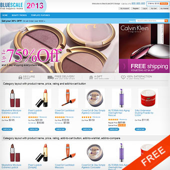 BlueScale2013 Free Magento Template