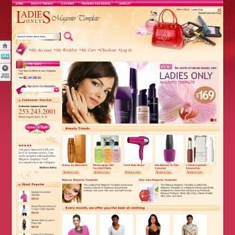 LadiesOnly Pink Magento Template