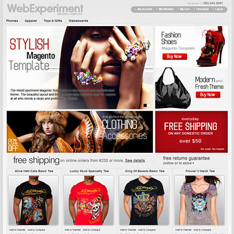 WebExperiment Magento Template