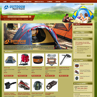 Sports and Outdoors Magento Template
