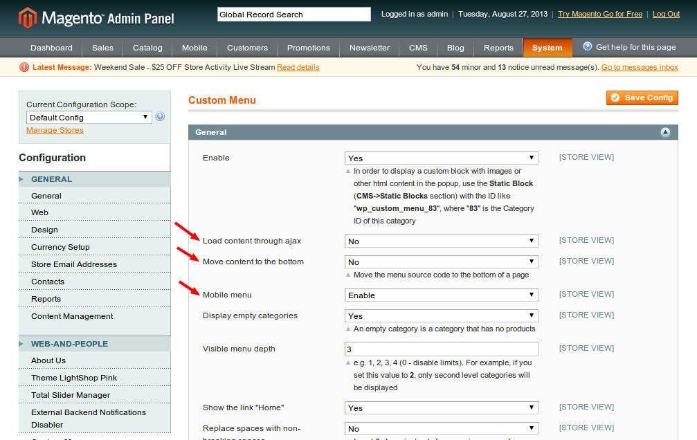 What's new in the Magento Custom Menu 2.5.5