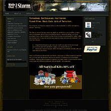 Rideoutthestorm.com - 1st aid kits | Bug Out Bags | Survival | Supplies | Gear