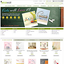 Magento Store Decowall.co.uk - products for decorating walls and furniture such as removable wall stickers, wall decals and window film