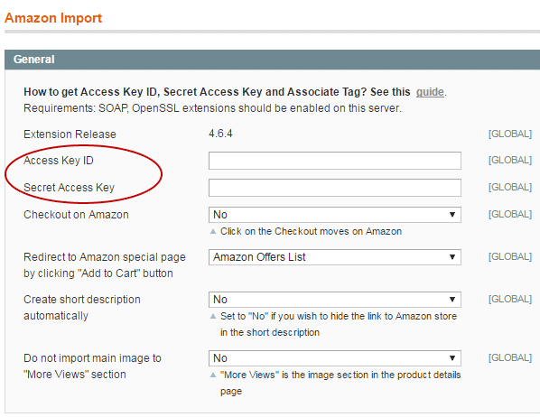 Amazon Access Key ID, Secret Access Key - Amazon Magento extension