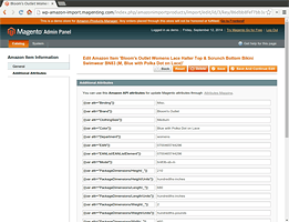 List of all provided  attributes from the Amazon API - Amazon Product Manager Magento Extension