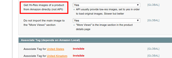 Load images from product description - Amazon Product Manager Magento Extension