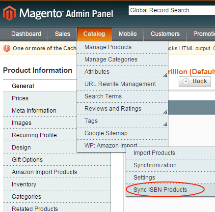 Magento Sync Amazon by  ISBN