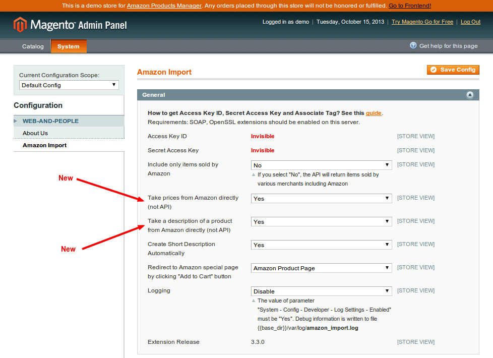 Take prices from Amazon directly, Take a description of a product from Amazon directly