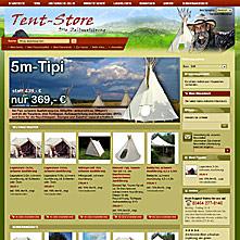 Tent-store.de - Tipi, Indianertipi, Historische Zelte, Ritterzelte, Jurten, Kohten, Marktstände