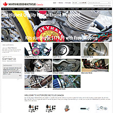 Magento Store Motorizedbicycle.ca - Motorized Bicycle Canada. Home of the Grubee Skyhawk Engine kit