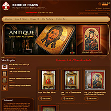 Magento Store - custom made icons, religious art, Rosary CD, Cross Stations, icons history