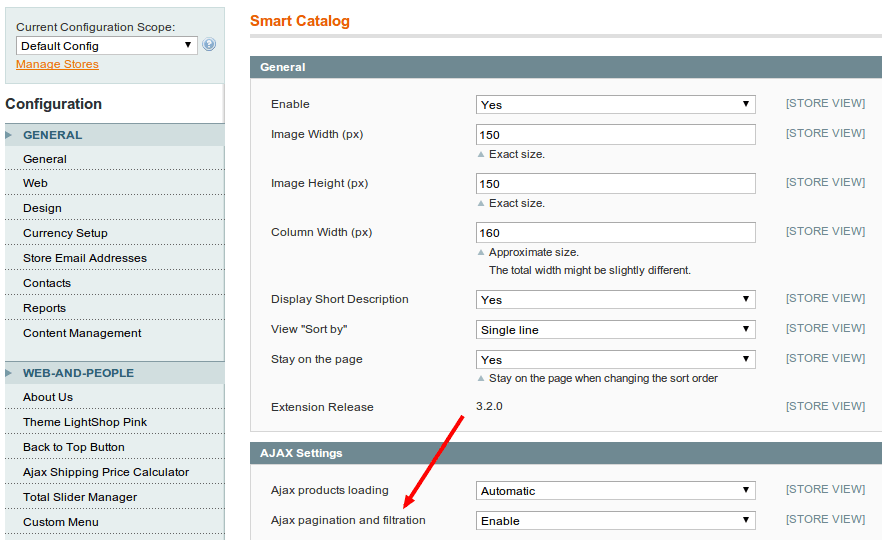 Magento Smart Catalog - Ajax pagination and filtering