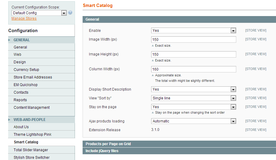 Magento Smart Catalog Settings