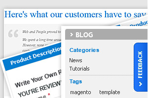 Magento Template features