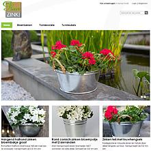 Magento store - Puur Zink, bloembakken, tuindecoratie en tuinmeubels van Zink