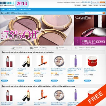 BlueScale2013 Free Magento theme