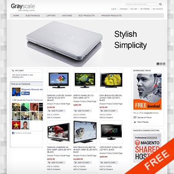 Grayscale Free Magento theme