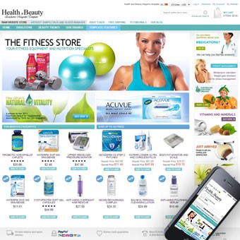 Health and Beauty Magento theme