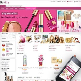 LightShop Pink Magento theme