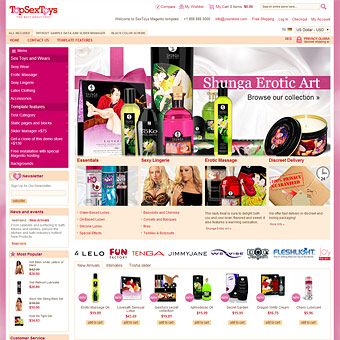 SexShop Magento theme