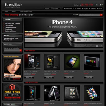 StrongBlack Magento theme