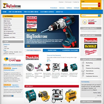 Tools and Software Magento theme